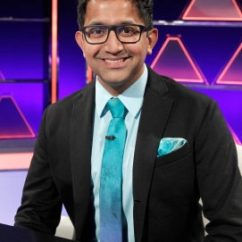 """THE $100,000 PYRAMID - Airdate: June 24, 2018 - Michael Strahan hosts """"The 100,000 Pyramid,"""" airing SUNDAYS (9-10PM, ET) on the ABC Television Network. On this episode Snoop Dogg competes against Questlove and in game two Richard Schiff and Nicholas Gonzalez face off. (ABC/Lou Rocco) ARCHITH SESHADRI"""