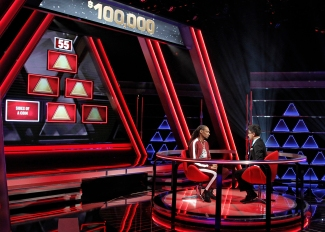 "THE $100,000 PYRAMID - Airdate: June 24, 2018 - Michael Strahan hosts ""The 100,000 Pyramid,"" airing SUNDAYS (9-10PM, ET) on the ABC Television Network. On this episode Snoop Dogg competes against Questlove and in game two Richard Schiff and Nicholas Gonzalez face off. (ABC/Lou Rocco) SNOOPDOG, ARCHITH SESHADRI"