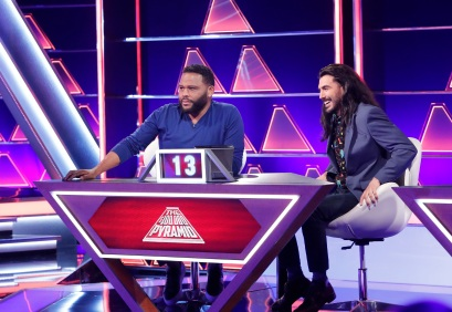 THE $100,000 PYRAMID - Airdate: July 28, 2019 - Michael Strahan is back as host of ÒThe $100,000 PyramidÓ on Sunday nights on ABC. In game one Anthony Anderson competes against comedian Jay Pharoah. Next up, actor and comedian Jeff Ross and Pete Holmes compete with hopes of making it to the winnerÕs circle and the ultimate prize of $100,000. ÒThe $100,000 PyramidÓ airs SUNDAY, JULY 28 (9:00Ð10:00 p.m. EDT), on The ABC Television Network, streaming and on demand. (Walt Disney Television/Lou Rocco) ANTHONY ANDERSON, MARTIN ARAMAYO